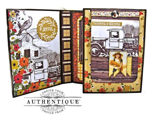 Authentique Pleasant Autumn Trifold Folio Tutorial by Kathy Clement Photo  06