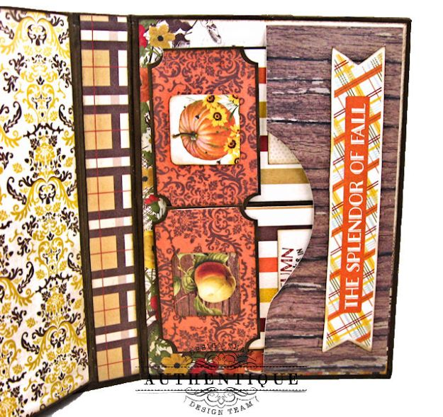 Authentique Pleasant Autumn Trifold Folio Tutorial by Kathy Clement Photo 09