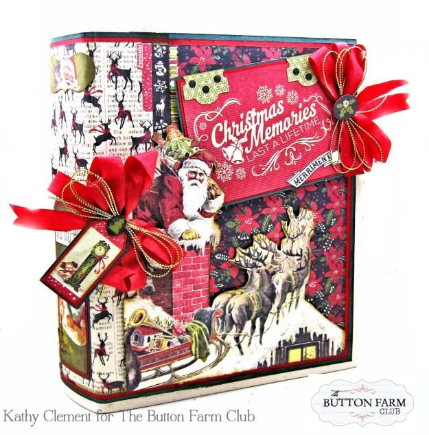 Authentique Nostalgia Christmas Memories Mini Album Kit for the Button Farm Club by Kathy Clement Photo 01