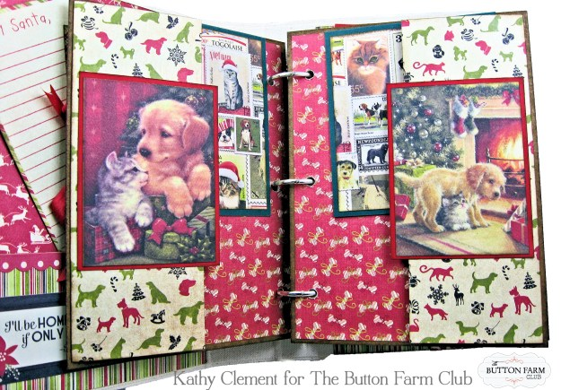 Authentique Nostalgia Christmas Memories Mini Album Kit for the Button Farm Club by Kathy Clement Photo 05