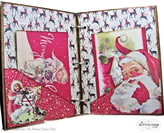 Authentique Nostalgia Christmas Memories Mini Album Kit for the Button Farm Club by Kathy Clement Photo 07