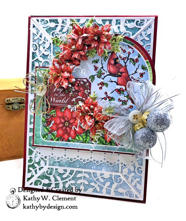 Heartfelt Creations Festive Holly Christmas Card Folio by Kathy Clement Photo 02
