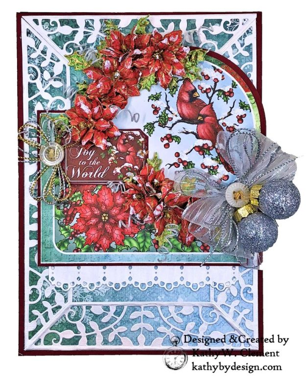 Heartfelt Creations Festive Holly Christmas Card Folio by Kathy Clement Photo 01