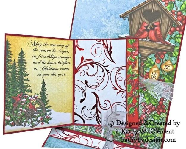 Heartfelt Creations Festive Holly Christmas Card Folio by Kathy Clement Photo 06