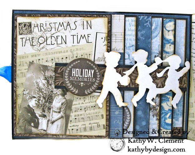 Winter Blues Christmas Folio Kaisercraft Frosted by Kathy Clement for Really Reasonable Ribbon Photo 05