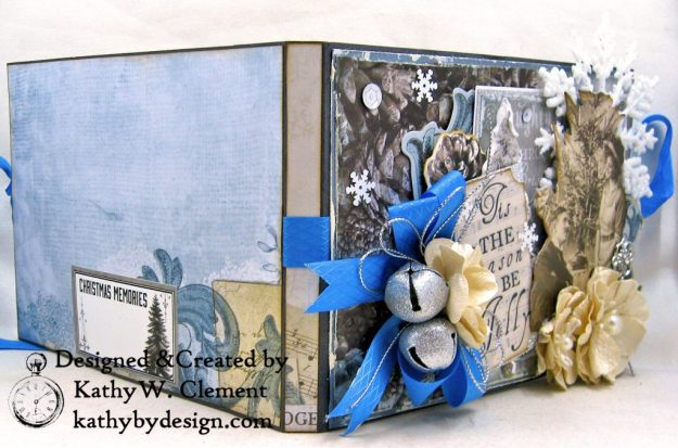 Winter Blues Christmas Folio Kaisercraft Frosted by Kathy Clement for Really Reasonable Ribbon Photo 02