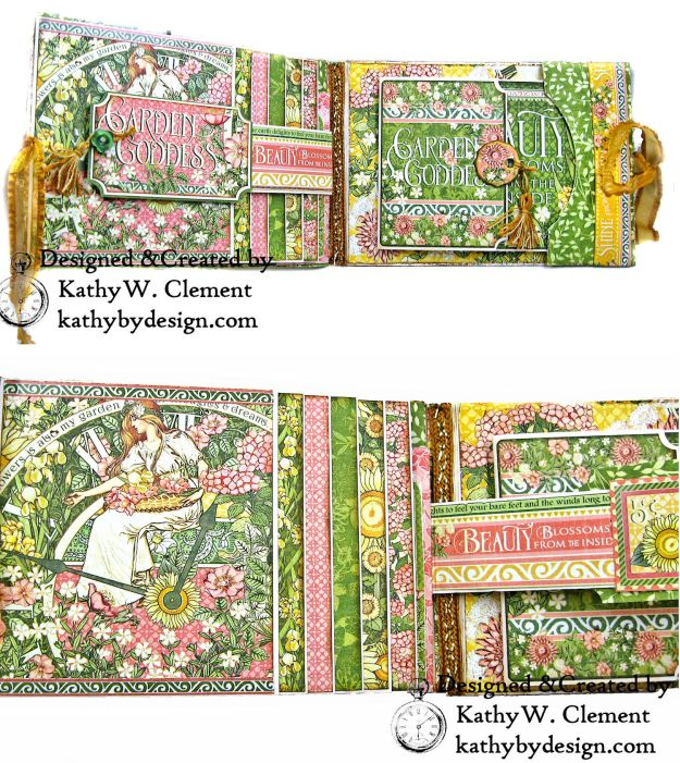 Glorious Graphic 45 Garden Goddess Shine Card Folio by Kathy Clement for The Funkie Junkie Boutique Photo 02