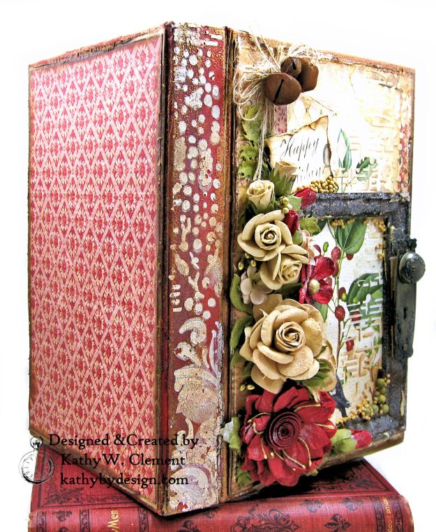 Stamperia Winter Botanic Christmas Box by Kathy Clement for The Funkie Junkie Boutique Photo 03