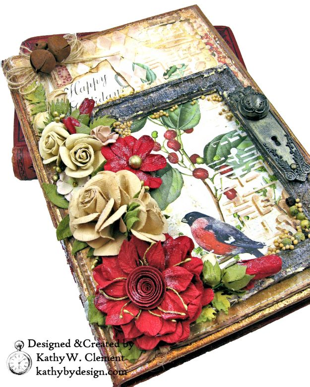 Stamperia Winter Botanic Christmas Box by Kathy Clement for The Funkie Junkie Boutique Photo 06