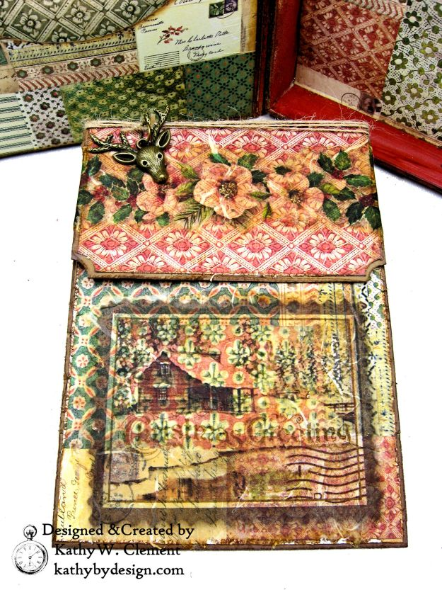 Stamperia Winter Botanic Christmas Box by Kathy Clement for The Funkie Junkie Boutique Photo 12