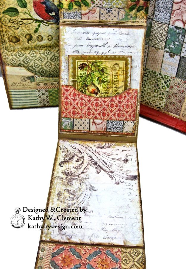 Stamperia Winter Botanic Christmas Box by Kathy Clement for The Funkie Junkie Boutique Photo 14