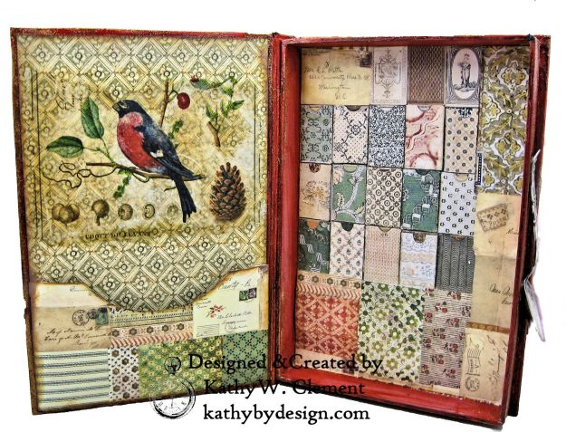 Stamperia Winter Botanic Christmas Box by Kathy Clement for The Funkie Junkie Boutique Photo 16