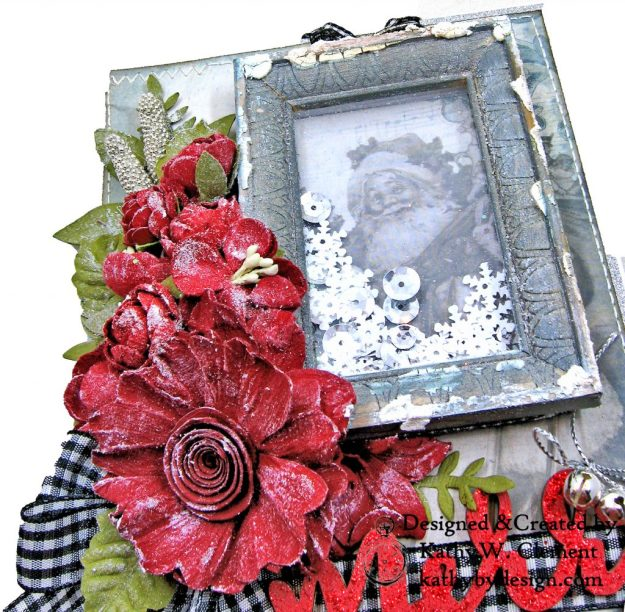 Santa Claus is Watching Shaker card Kaisercraft Frosted by Kathy Clement Photo  03
