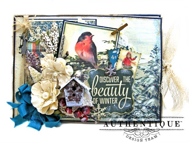 Authentique Solitude Waterfall Folio Tutorial by Kathy Clement Photo 01