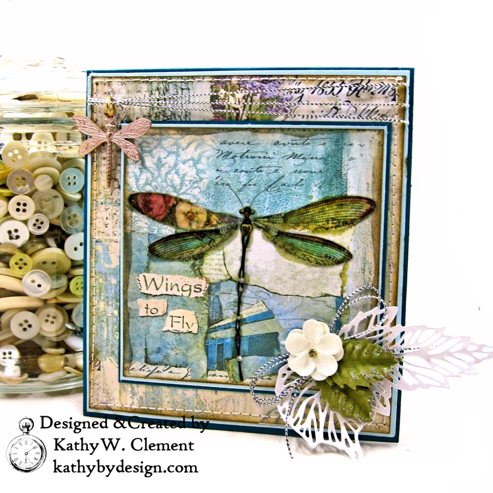 Stamperia Wonderland Twist and Pop Card Tutorial by Kathy Clement Photo 01