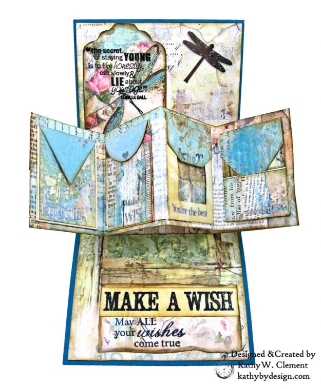 Stamperia Wonderland Twist and Pop Card Tutorial Kathy Clement Kathy by Design Photo 04