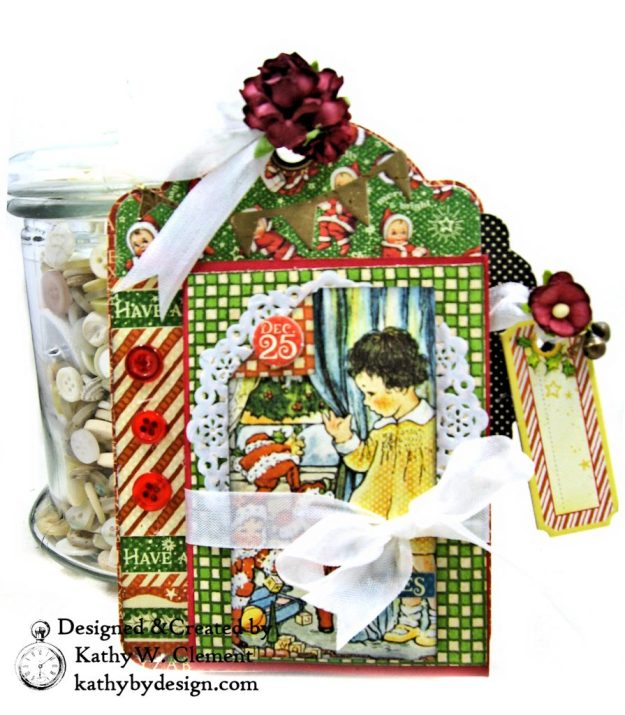 #G45Tags Graphic 45 Christmas Magic Gift Card Tags Tutorial by Kathy Clement Kathy by Design Photo 08