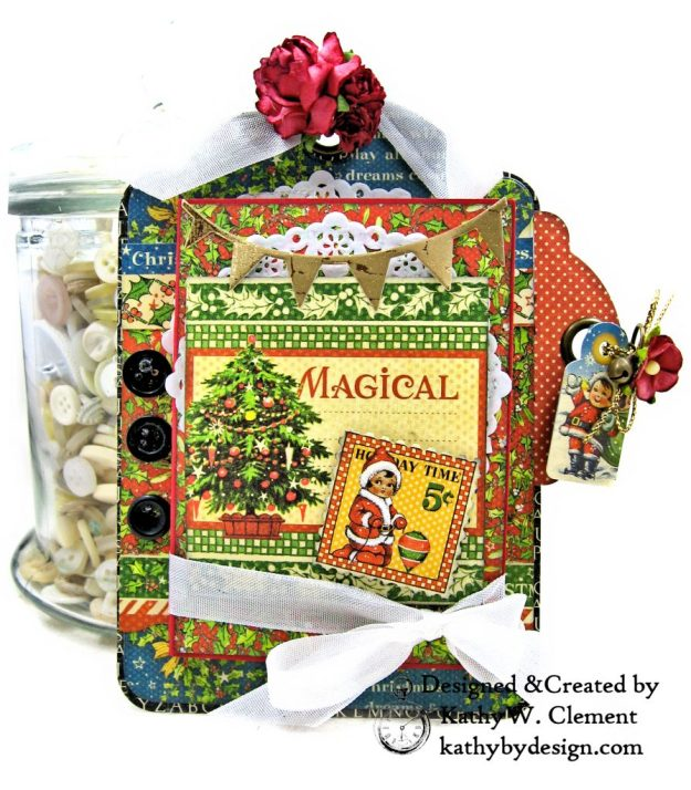 #G45Tags Graphic 45 Christmas Magic Gift Card Tags Tutorial by Kathy Clement Kathy by Design Photo 06