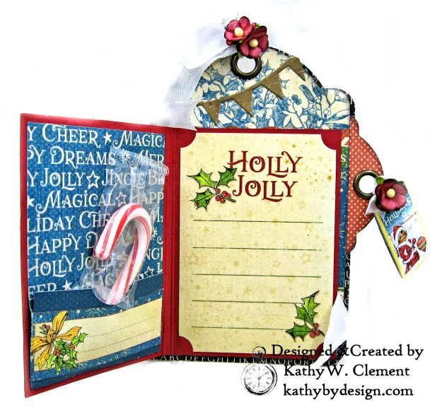 #G45Tags Graphic 45 Christmas Magic Gift Card Tags Tutorial by Kathy Clement Kathy by Design Photo 02