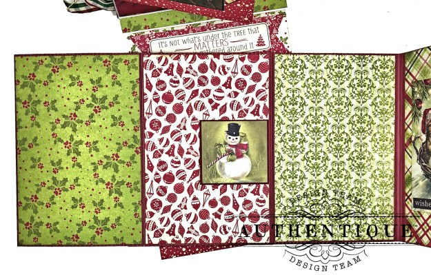 Authentique Nostalgia Meowy Christmas Card Folio by Kathy Clement for Really Reasonable Ribbon Photo 10