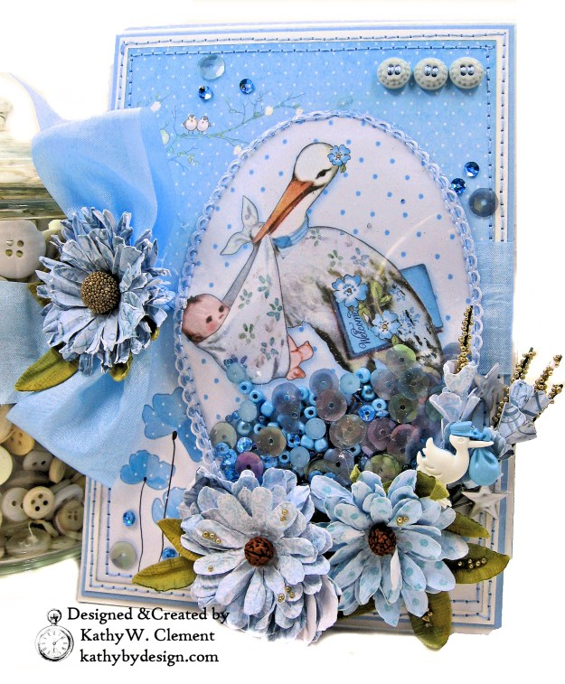 Stamperia Baby Boy Card Folio Little Birdie Crafts by Kathy Clement Kathy by Design Photo 01