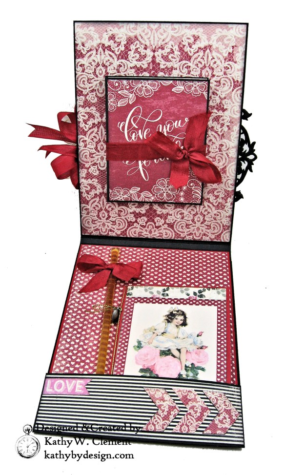 Authentique Romance Love Lives Here Valentine Card Folio by Kathy Clement Kathy by Design Photo 03