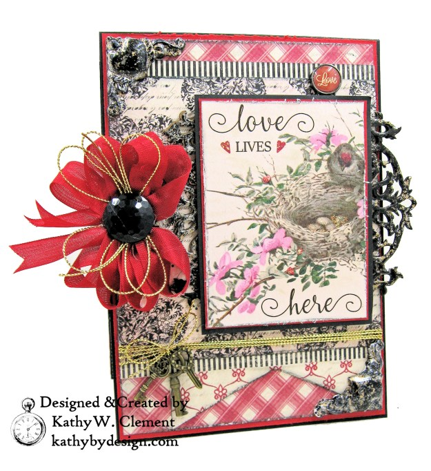 Authentique Romance Love Lives Here Valentine Card Folio by Kathy Clement Kathy by Design Photo 02