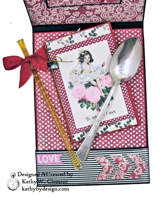 Authentique Romance Love Lives Here Valentine Card Folio by Kathy Clement Kathy by Design Photo 06