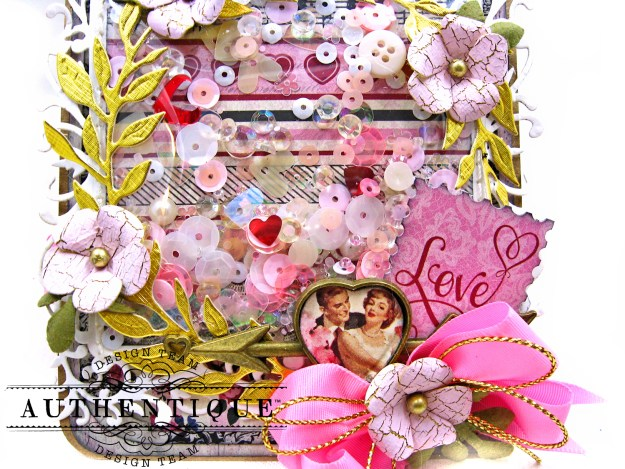 Hearts and Arrows Romantic Valentine Shaker Tags by Kathy Clement Product by Authentique Paper Photo 02
