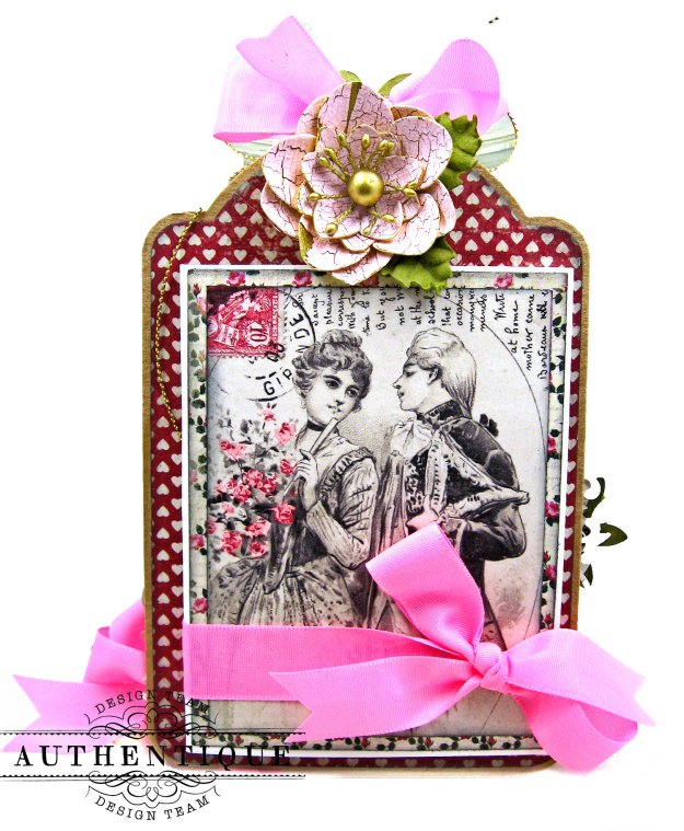 Love Birds Romantic Valentine Shaker Tags by Kathy Clement Product by Authentique Paper Photo 03