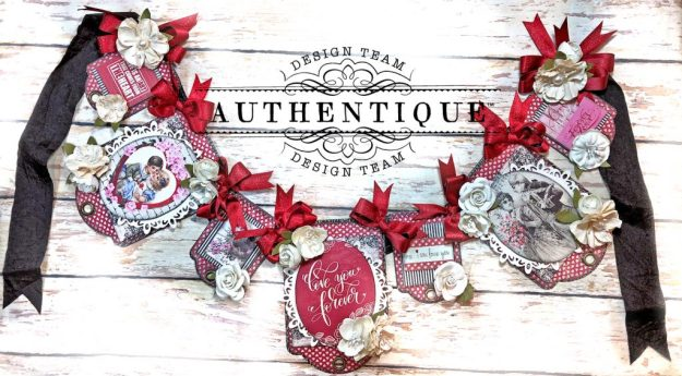 Authentique Romance Romantic Valentines Day Banner by Kathy Clement Kathy by Design PHoto 01
