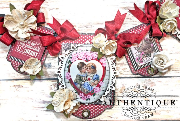 Authentique Romance Romantic Valentines Day Banner by Kathy Clement Kathy by Design PHoto 02