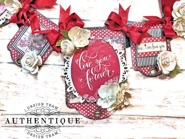 Authentique Romance Romantic Valentines Day Banner by Kathy Clement Kathy by Design PHoto 03