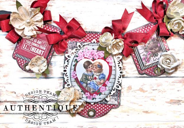 Authentique Romance Romantic Valentines Day Banner by Kathy Clement Kathy by Design PHoto 04