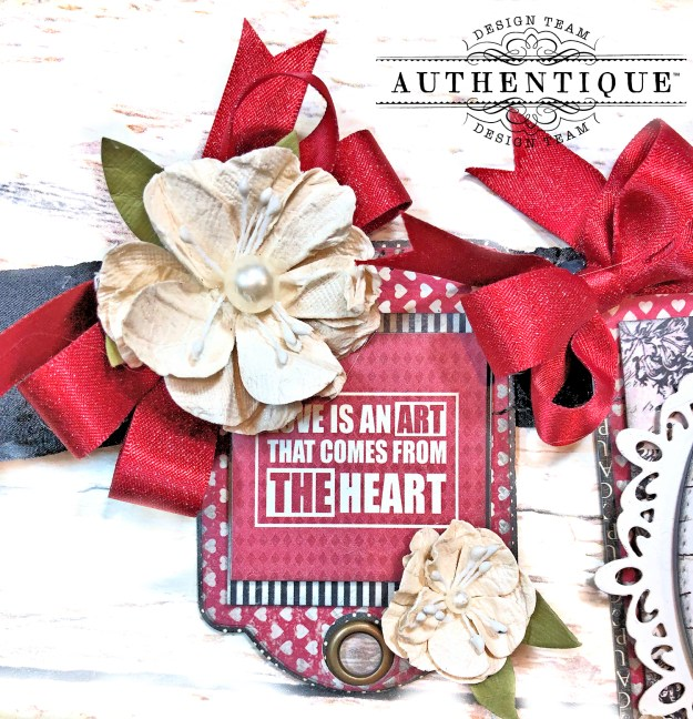 Authentique Romance Romantic Valentines Day Banner by Kathy Clement Kathy by Design PHoto 05