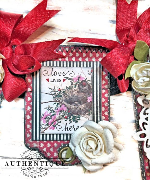 Authentique Romance Romantic Valentines Day Banner by Kathy Clement Kathy by Design PHoto 06