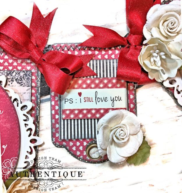 Authentique Romance Romantic Valentines Day Banner by Kathy Clement Kathy by Design PHoto 07