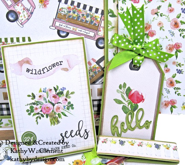 Carta Bella Spring Market Shaker Card Folio by Kathy Clement for Really Reasonable Ribbon Photo 04
