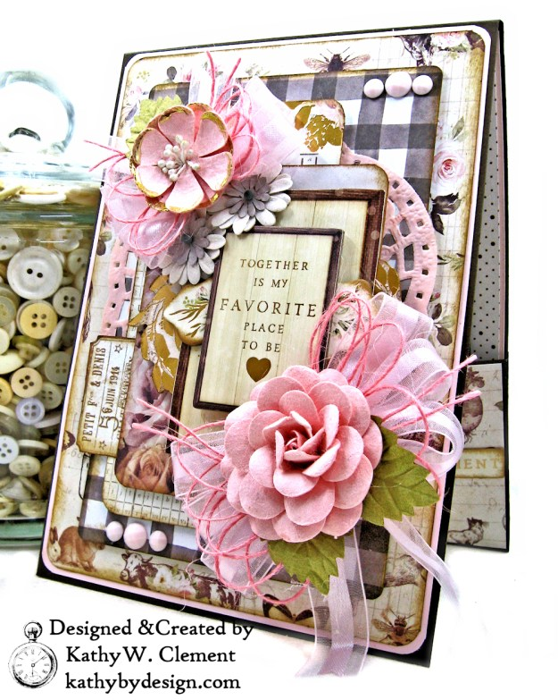 Prima Spring Farmhouse Valentine by Kathy Clement kathy by design for Really Reasonable Ribbon Photo 02