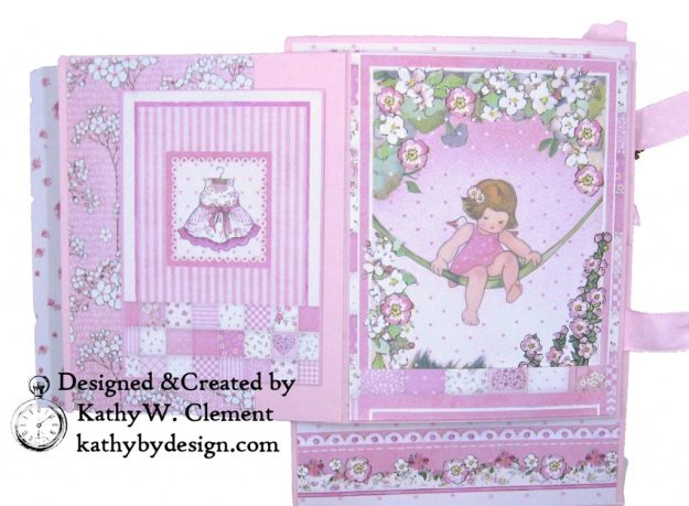 Stamperia Baby Girl Shaker Card by Kathy Clement Kathy by Design for Really Reasonable Ribbon Photo 06