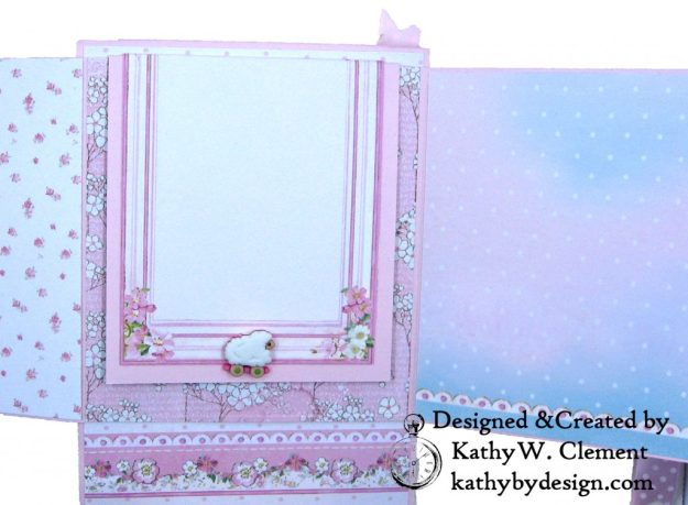 Stamperia Baby Girl Shaker Card by Kathy Clement Kathy by Design for Really Reasonable Ribbon Photo 07