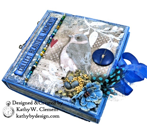 Stamperia Winter Blues Folio Eileen Hull Passport Journal by Kathy Clement for The Funkie Junkie Boutique Photo 02