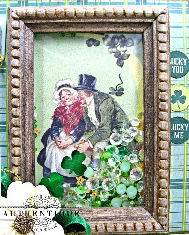 Authentique Clover Shaker Frame Tutorial by Kathy Clement