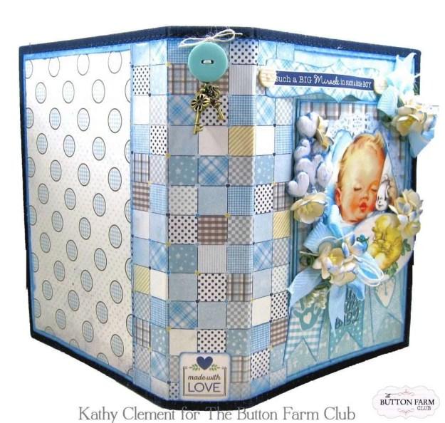 Authentique Swaddle Boy Mini Album Kit by Kathy Clement Kathy by Design for The Button Farm Club Photo 02