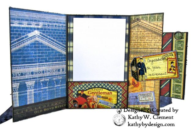 Graphic 45 A Proper Gentleman Gatefold Card by Kathy Clement Photo 04