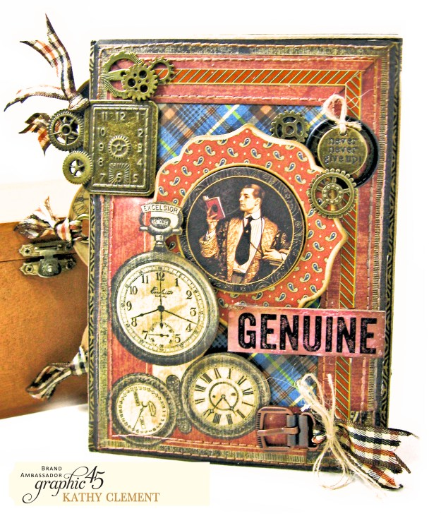 Graphic 45 A Proper Gentleman Card Folio Tutorial by Kathy Clement Kathy by Design Photo 01