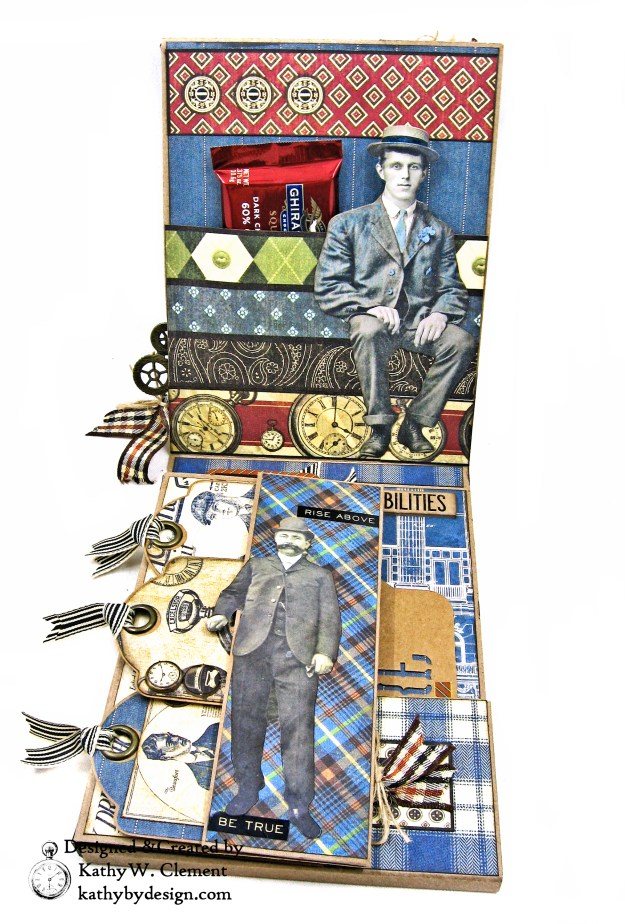Graphic 45 A Proper Gentleman Card Folio by Kathy Clement for The Funkie Junkie Boutique Photo 03