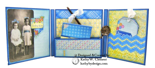 Trifold Folio with Box Pocket by Kathy Clement