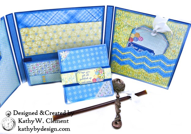 Buttons and Blooms Shaker Folio Tutorial by Kathy Clement for the Heartfelt Creations Alumni Hop February 2019
