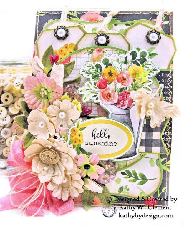 Card Folio Spring Market Carta Bella Kathy by Design Kathy Clement